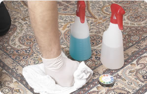 carpet cleaning dye tests